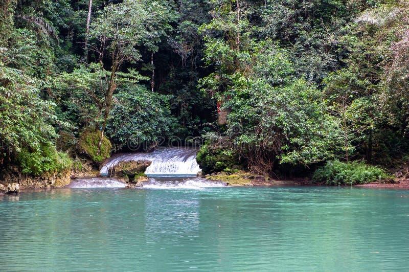 Natur av vattenfallet i Bantimurung —Bulusaraung nationalpark, Sulawesi arkivfoton