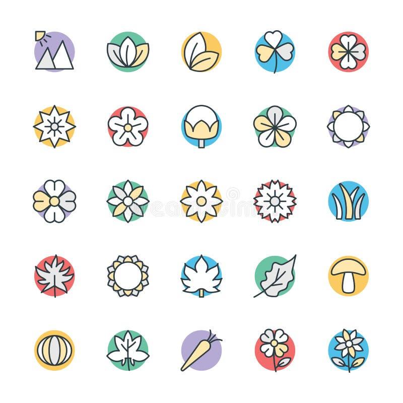 Natur Chłodno Wektorowe ikony 3 ilustracja wektor