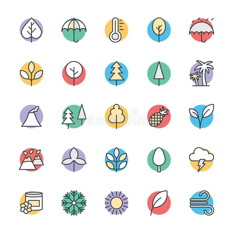 Natur Chłodno Wektorowe ikony 1 ilustracja wektor