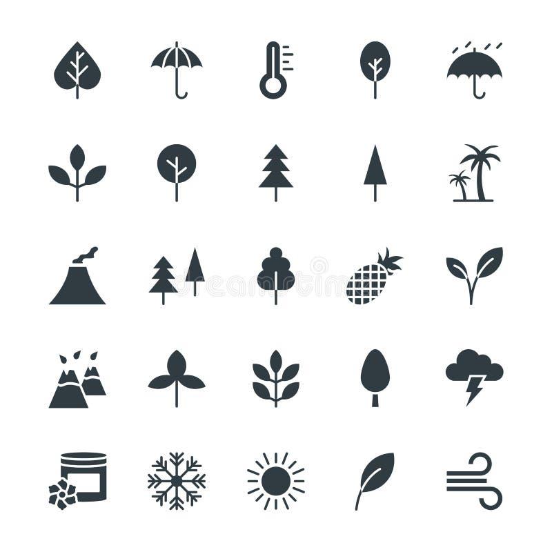 Natur Chłodno Wektorowe ikony 1 ilustracji