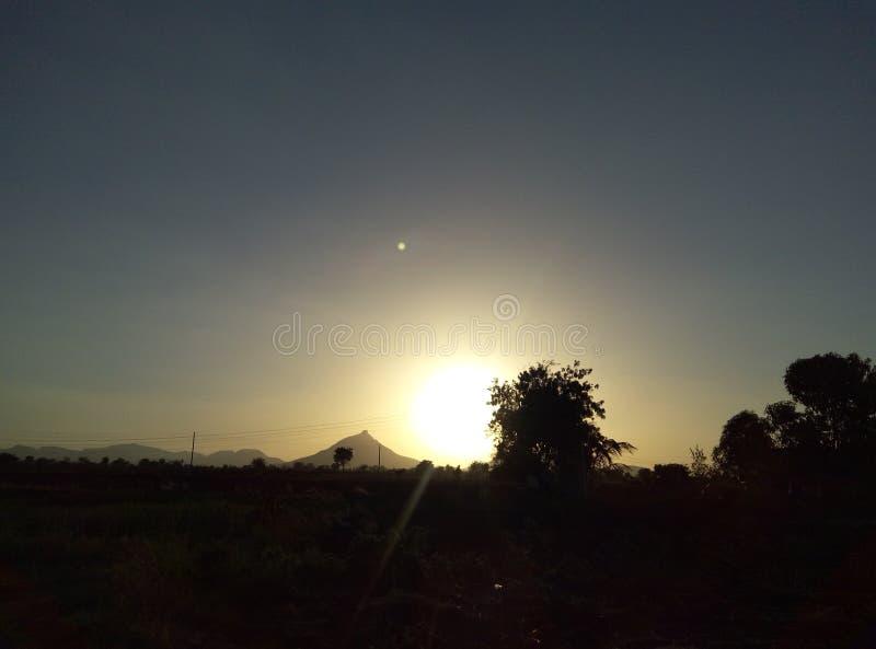 Natur, die mit Sun spielt stockbild