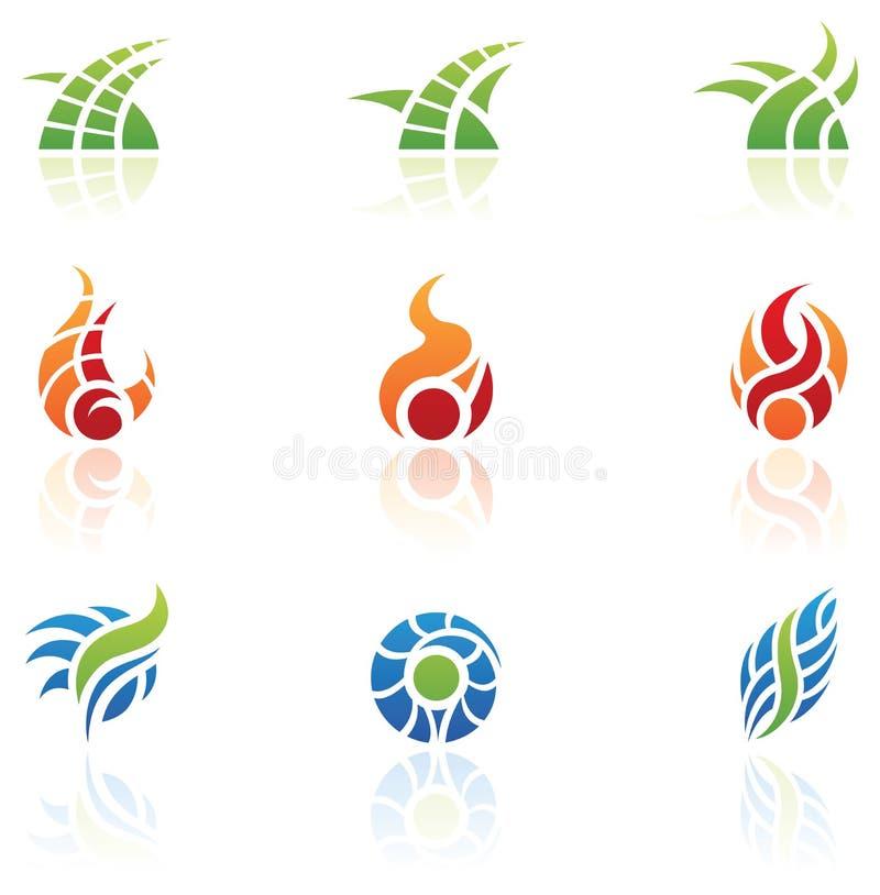 Natur-Element-Zeichen stock abbildung