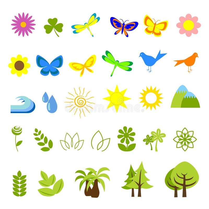 natur för 05 symboler vektor illustrationer