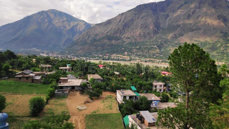 Natur in Himachal Pradesh Indien lizenzfreies stockbild