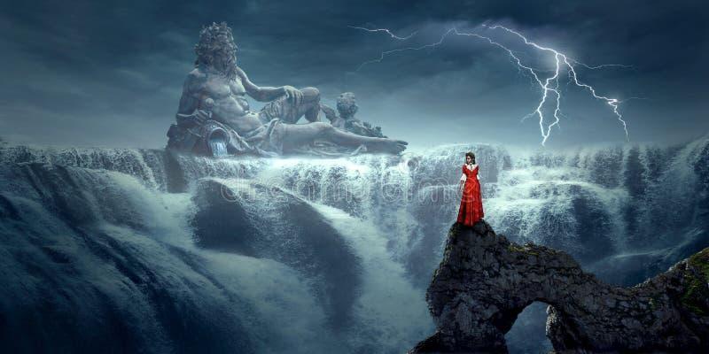 Natur, Himmel, Wasserfall, geologisches Phänomen