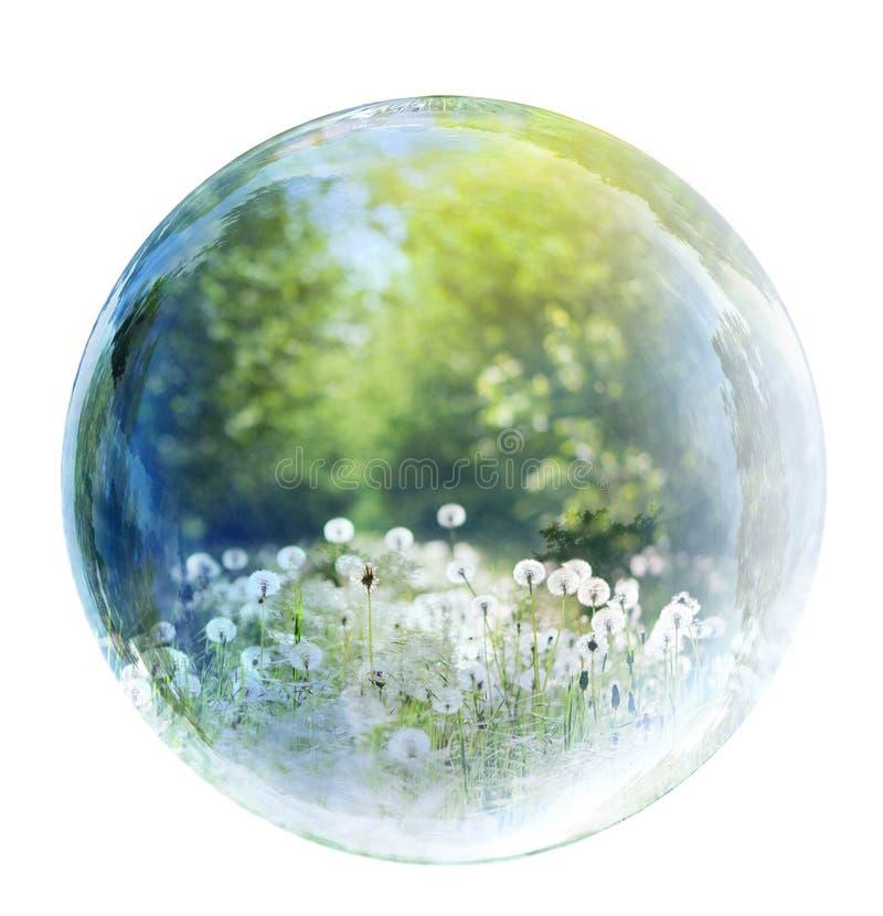 Natur i bubbla royaltyfri fotografi