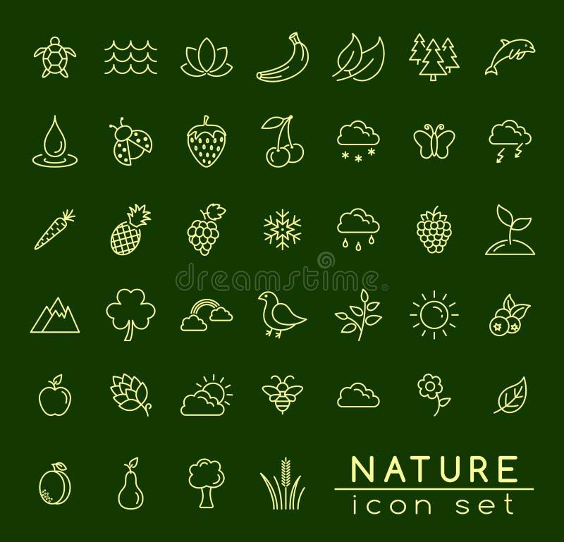 Natur-Ikonen-Satz vektor abbildung