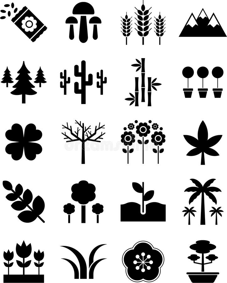 Natur ikony royalty ilustracja
