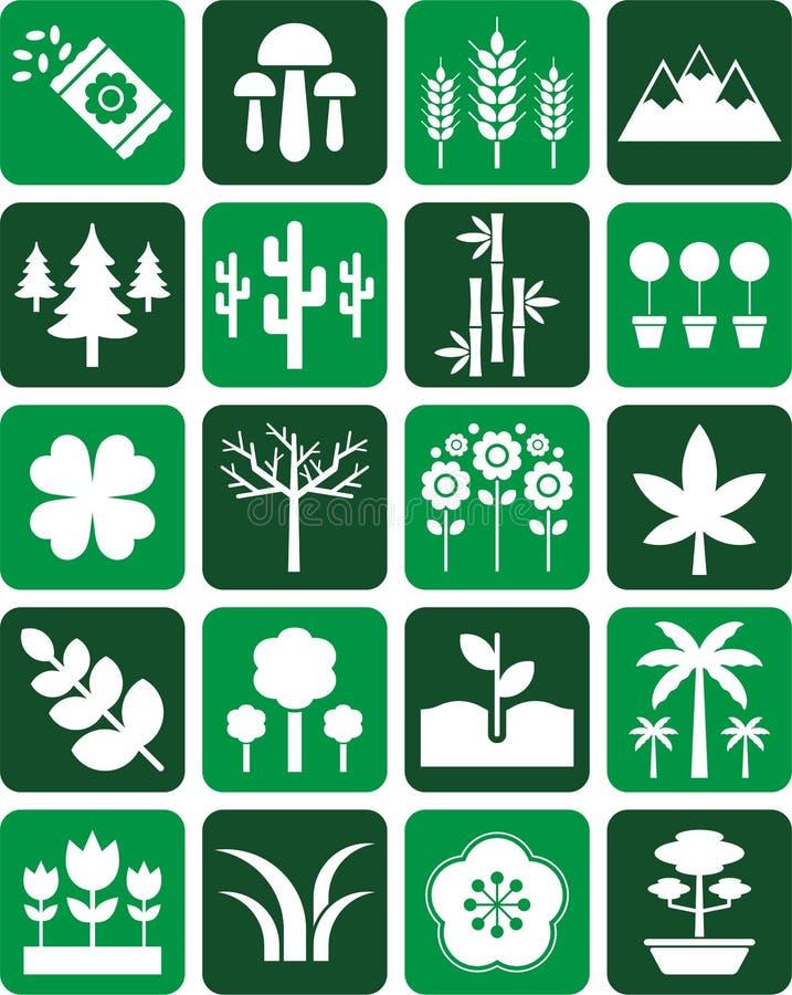 Natur ikony ilustracja wektor