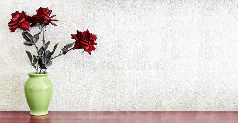 Natur morte Rotrosen-Blume ` s stockbild