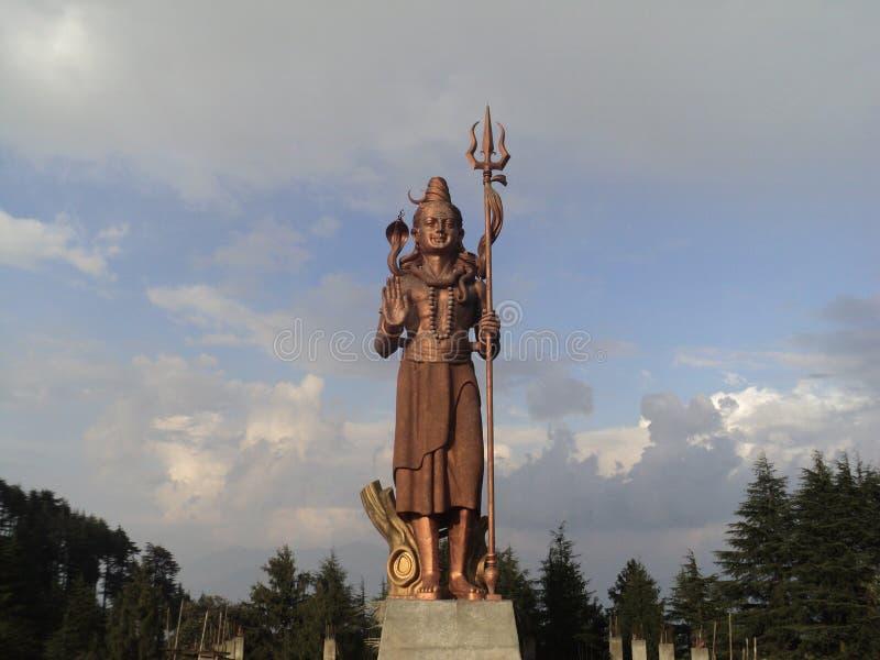 Natur och Lord Shiva royaltyfria bilder