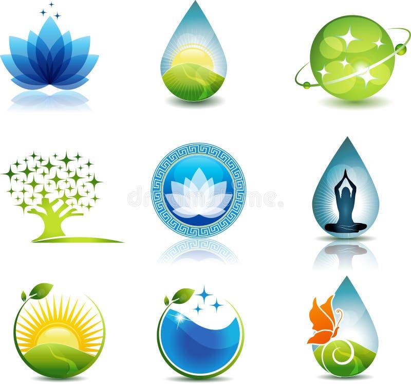Natur och sjukvård royaltyfri illustrationer