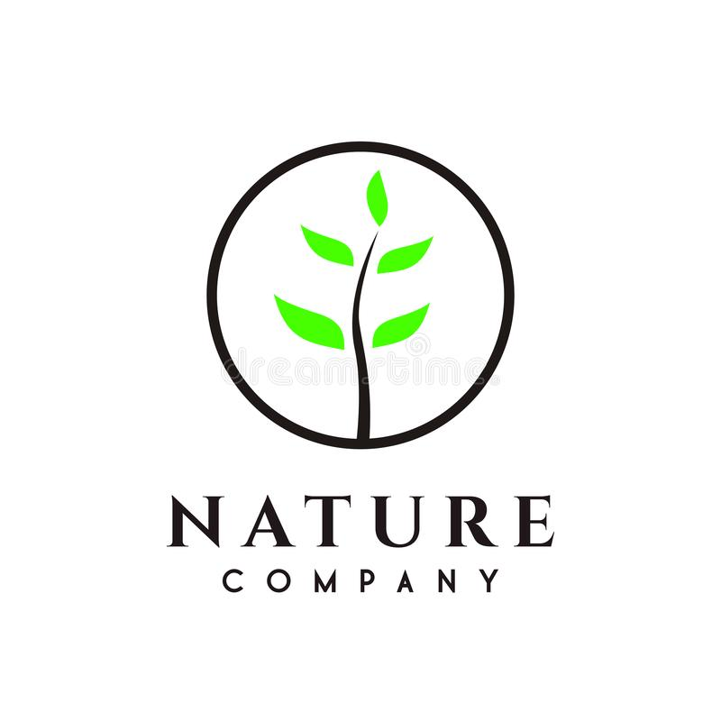 Natur oder Baum, Betriebslogoentwurf vektor abbildung