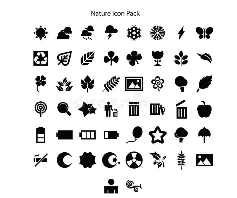 Natur-Reihe Ikonen-Satzentwurf stock abbildung