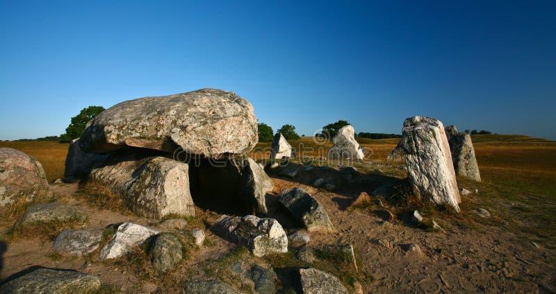 natur södra sweden arkivbild