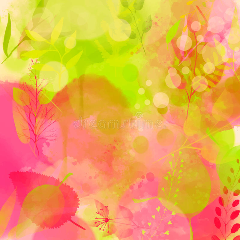 Natur spornte rosa und grünen Hintergrund mit an vektor abbildung