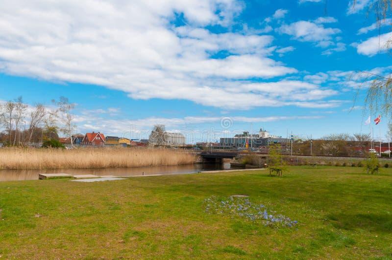 Natura in città di Koge in Danimarca immagine stock