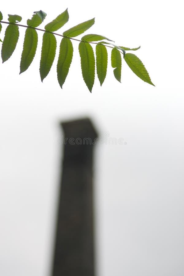 Natura CONTRO industria fotografie stock