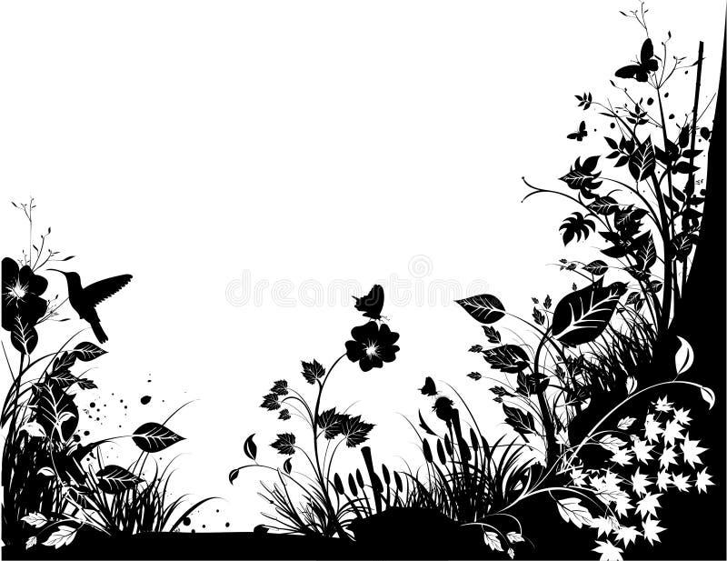 natura czarny biel ilustracji