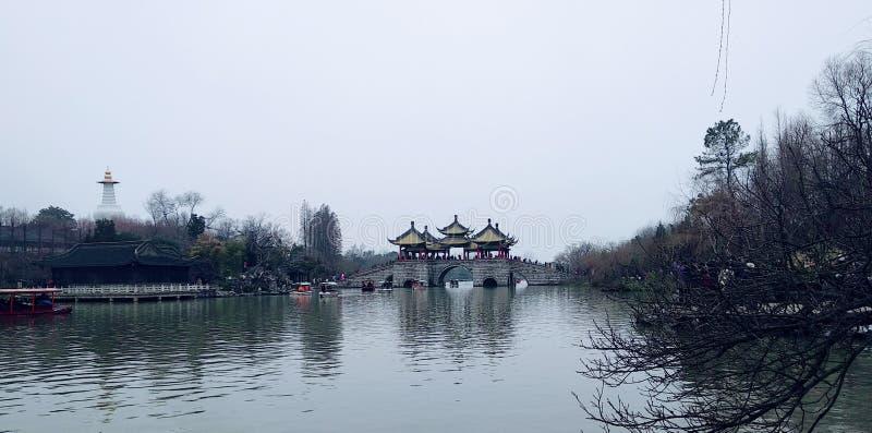 Natura del lago china bella antica fotografie stock libere da diritti