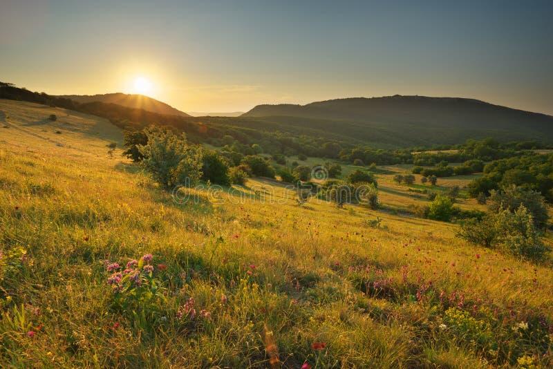 Natura del paesaggio della montagna immagini stock