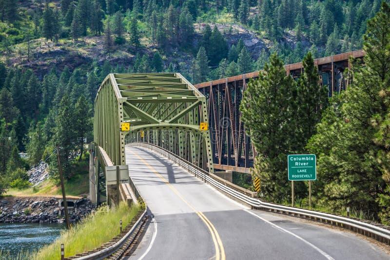 Natura dello Stato del Washington del fiume Columbia immagini stock libere da diritti