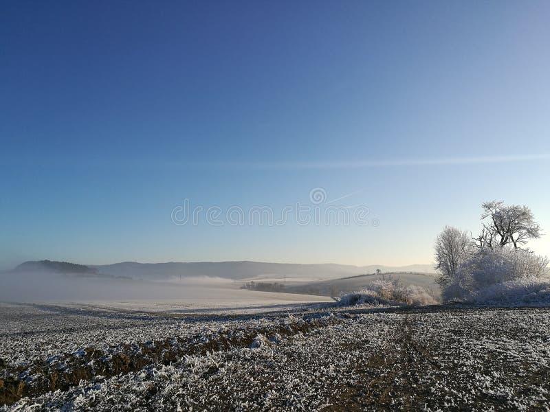 Natura di inverno in repubblica Ceca immagine stock libera da diritti