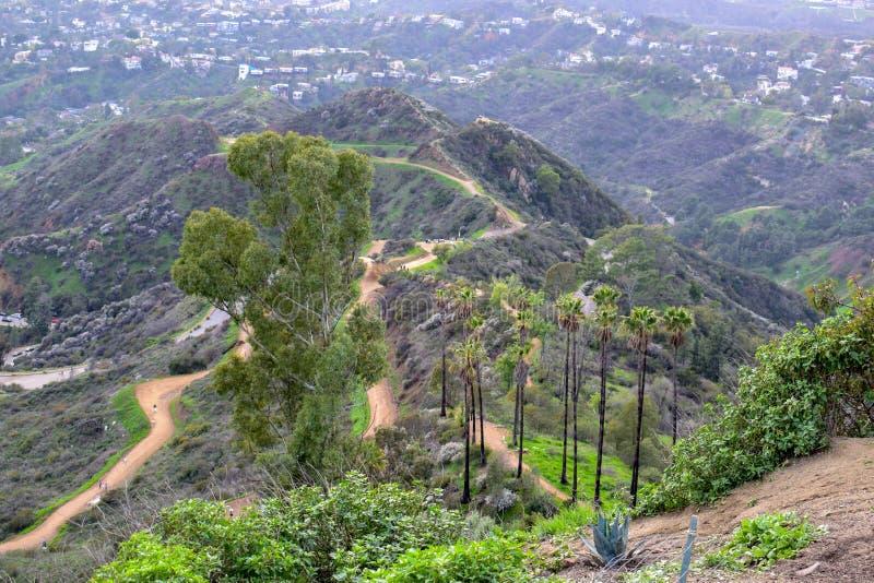 Natura di Los Angeles dal supporto Hollywood fotografia stock libera da diritti