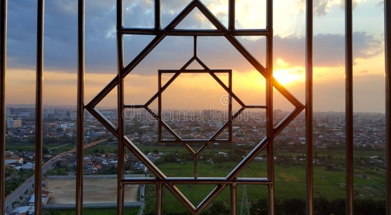 Natura di minimalis di tramonto immagini stock