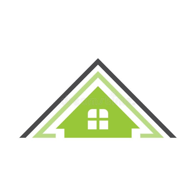 Natura dom dla karty lub loga ilustracji