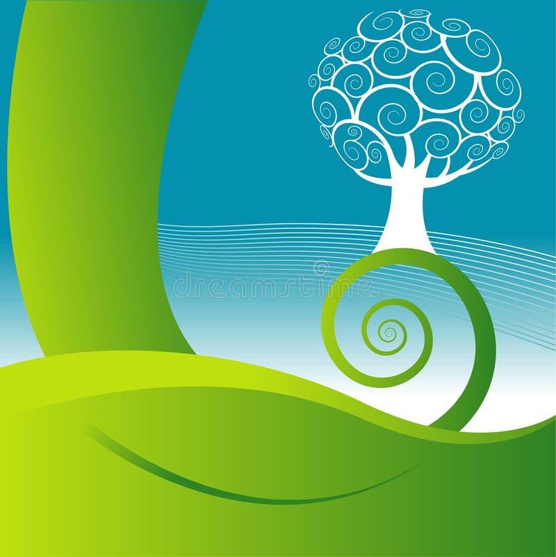 Natura e priorità bassa dell'albero illustrazione di stock