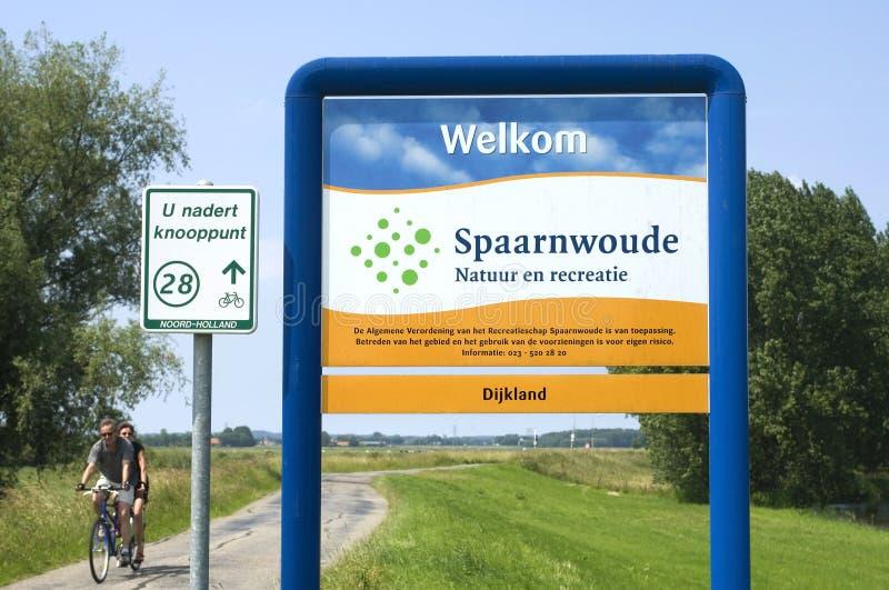 Natura e ricreazione nella riserva naturale Spaarnwoude immagini stock