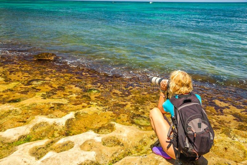 Natura fotograf w Hawaje obraz stock