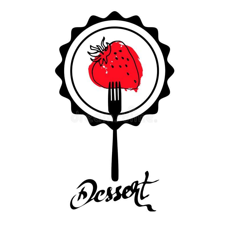 Natura fresco orgânico da ilustração do vetor do alimento do fruto de baga da morango ilustração do vetor