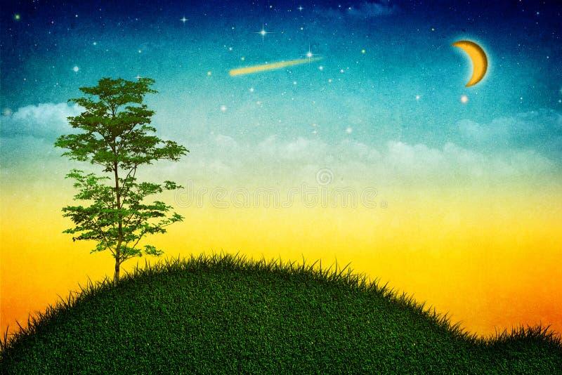 Natura Grungy. illustrazione vettoriale