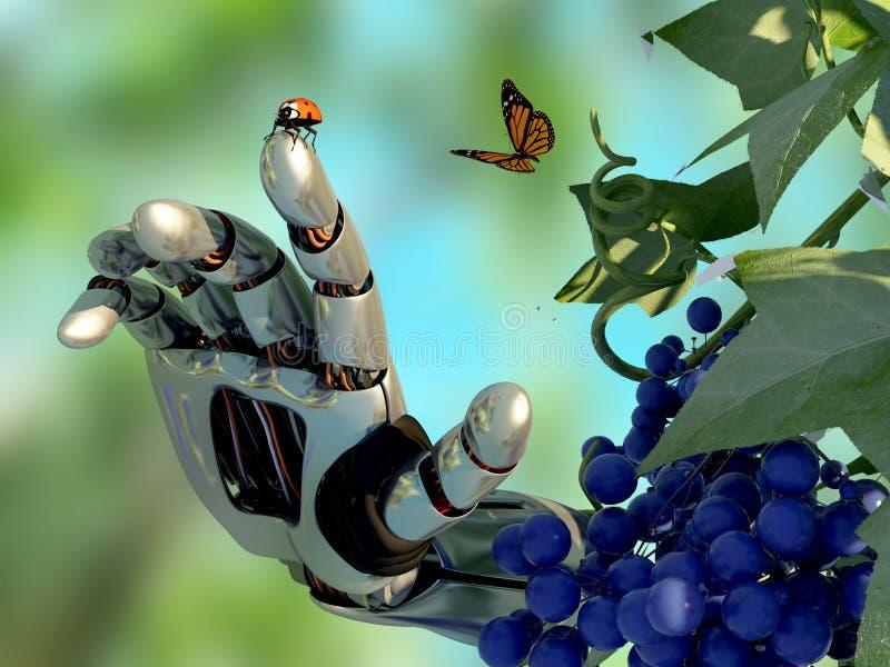Natura i robot ilustracji