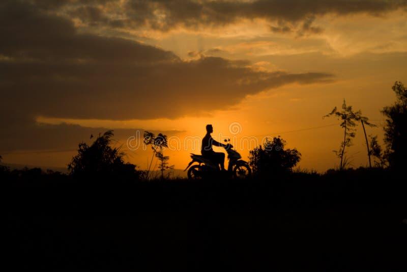 natura indonesiana East Java di tramonto fotografie stock libere da diritti