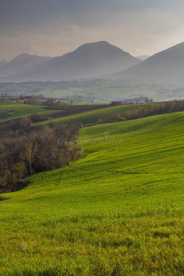 Natura in Italia centrale, belle viste fotografia stock
