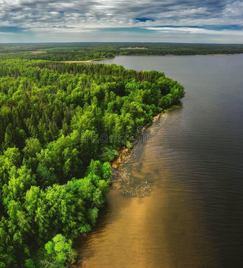 Natura krajobraz, trutnia powietrzny odg?rny widok obrazy stock