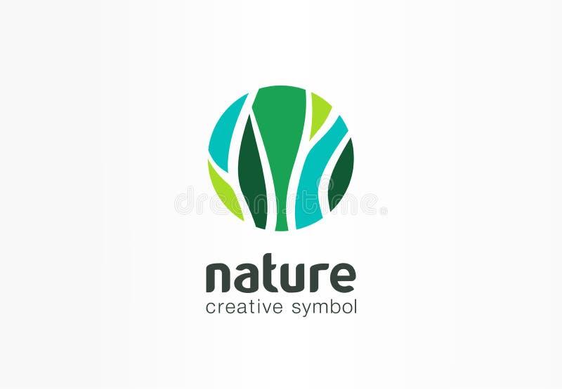 Natura kreatywnie symbolu organicznie pojęcie Życiorys ziołowej opieki zdrowotnej eco abstrakcjonistyczny biznesowy logo Świeża ż royalty ilustracja