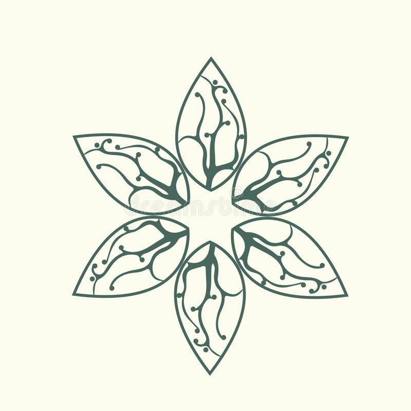 Natura kwiatu dekoraci DNA loga projekta ilustracja royalty ilustracja