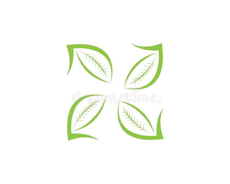 Natura liścia ikony projekta szablon royalty ilustracja