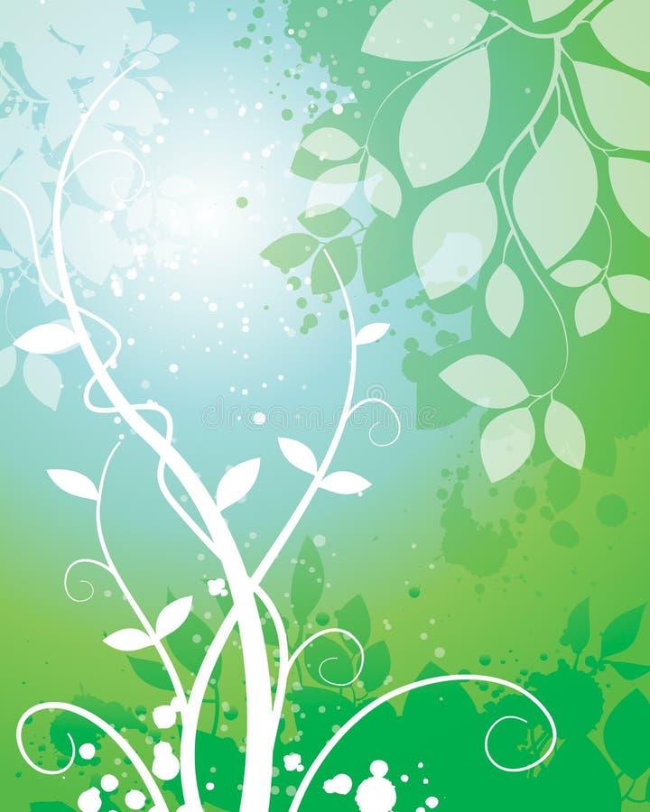 Natura liścia tło ilustracji