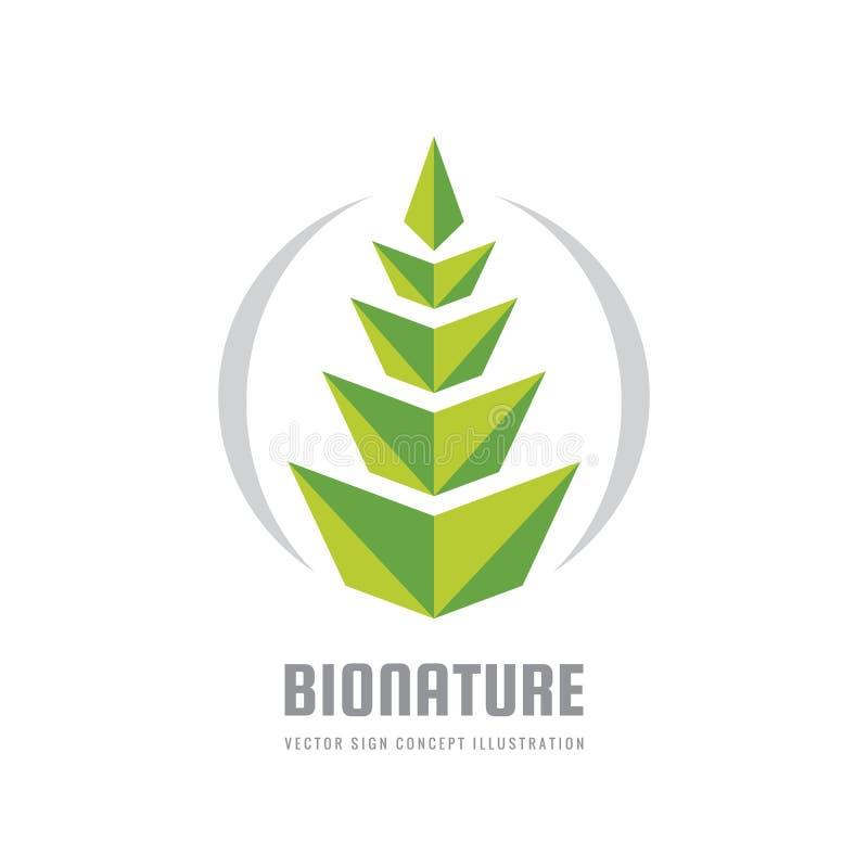 Natura loga szablonu wektorowa ilustracja w mieszkanie stylu Zielonego liścia kreatywnie znak Ucho banatka rolnictwa comcept Proj royalty ilustracja