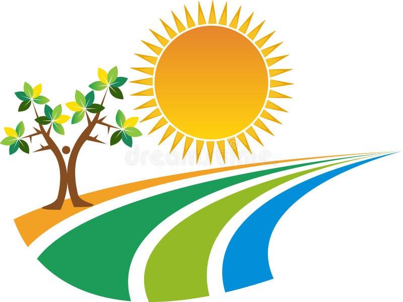 Natura logo ilustracja wektor