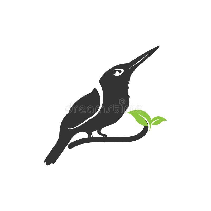 Natura logo ptasia ilustracja, natura ptasi logo, zwierzę ratownicza podstawa royalty ilustracja