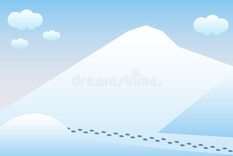 Natura a mezzogiorno Concetto di progetto all'aperto Bello paesaggio tassa illustrazione di stock