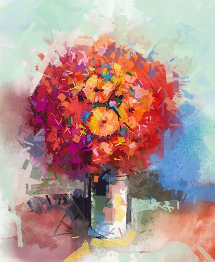 Natura morta astratta un mazzo dei fiori royalty illustrazione gratis