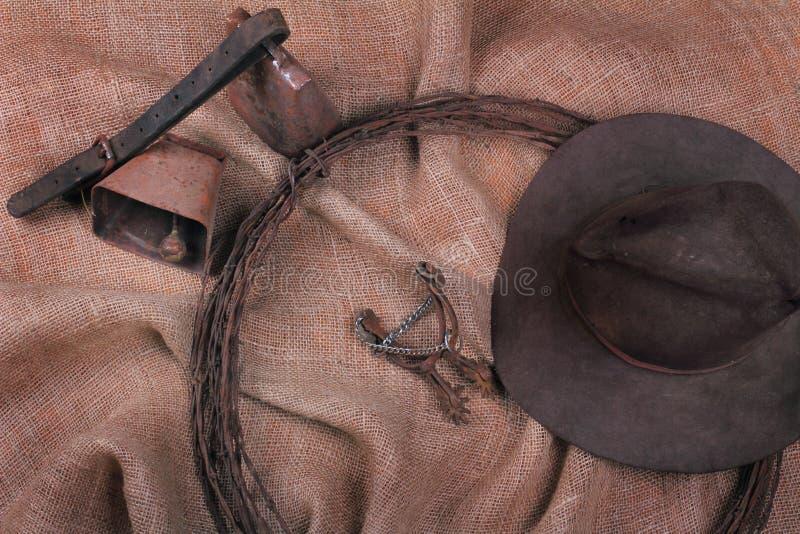 Natura morta del cowboy fotografie stock libere da diritti