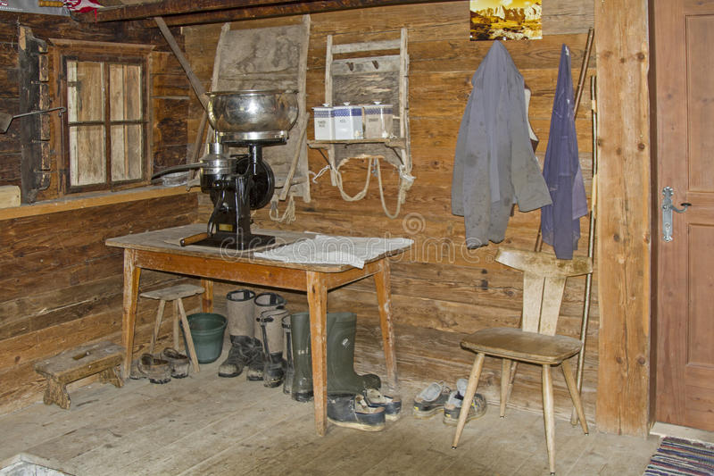 Natura morta nella capanna alpina fotografia stock libera da diritti